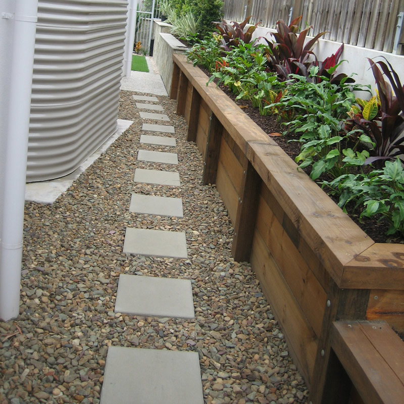 Paving and landscaping sunshine coast pro line landscape - Stepping stones and pebbles ...