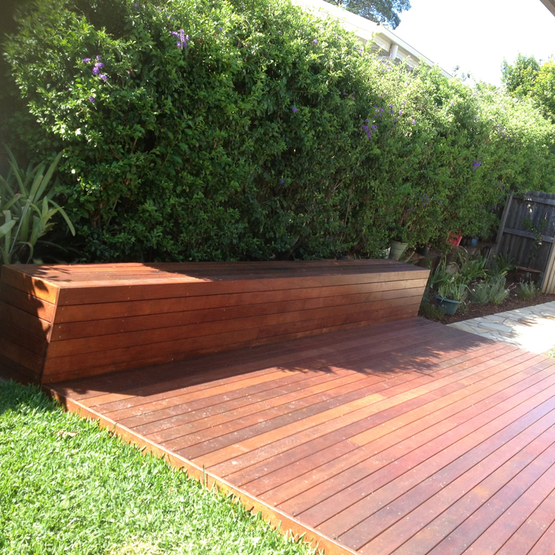 Timber deck and seat