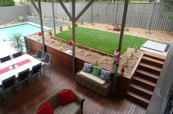 timber deck and stairs